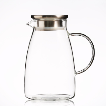 1000ml Borosilicate Glass Carafe With Material Lid