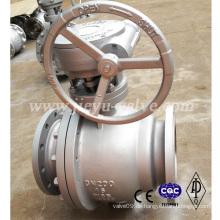 Pn16 Dn200 schwimmende Stahl Wcb Kugelhahn Schneckengetriebe
