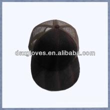 Wildleder Mesh Baseball Cap flache Kremse 5 Panel Baseball Cap
