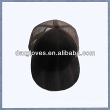 suede mesh baseball cap flat brim 5 panel baseball cap