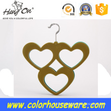 Heart-love Velvet hanger for tie/scarf