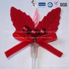 Vela decorativa de la torta de lujo de la Navidad