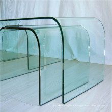 Good Quality 5mm  6mm 8mm 10mm Clear Hot Bending Curved Glass for Table Desk