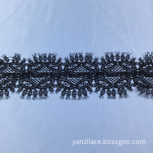 Black Thin Eyelash Lace Ribbon Trim