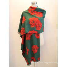 Lady Fashion Viskose gewebt Jacquard Fransen Schal (YKY4410)