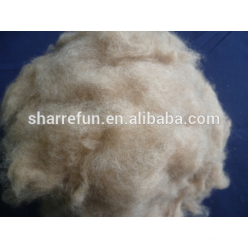 Dehaired e Carded Dog Hair Brown Color 20.5mic / 26mm