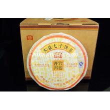 """2009 Menghai Dayi """"Gong Ting"""" Reife Pu Er (901 Batch) puer Tee Pu'er Tee Pu-erh Tee Pu'er Tee 200g / Kuchen"""