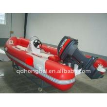 2011 quente costela barco inflável com fundo de fibra de vidro / lanchas / assalto barco / iate inflável barco