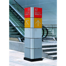 4 Sides Advertising Stainless Steel Mall Directory Signs