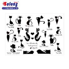Papier de tatouage temporaire imperméable de forme de chat mignon de tatouage de Solong
