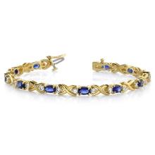 925 Silver Stylized X Gemstone Bracelet Jewelry for Women