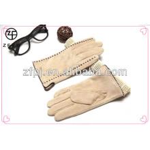 Guantes de vestido de señora, guantes de ante, guantes de moda