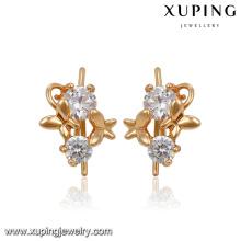 91587 papillon décorer environnement cuivre simple or gracieux boucles d'oreilles créoles pour les femmes