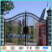 design 2.4m palisade iron main gate designs