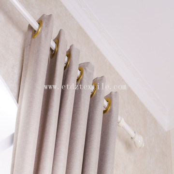 2017 Linen like blackout curtain fabric