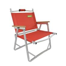 Peso leve de qualidade exterior Camping aço dobrável, cadeira de dobramento de pesca