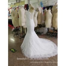 Robe de mariée en sirène Robe en mousseline de soie / robe de mariée en mousseline de soie P107