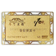 Carte en métal Carte en argent Carte VIP Carte d'or