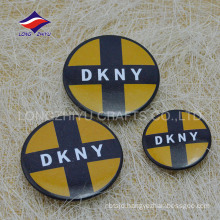 Cheap round printed safty pin fashional souvenir badge