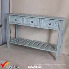 Mesa de café de madeira rústica do vintage