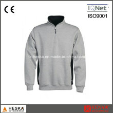 Custom 1/4 Zipper Men Blank Long Sleeve Sweatshirt
