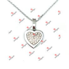 Custom Alloy Crystal Heart Jewelry Charms Pendant Necklace (ALK60128)