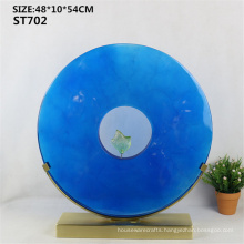 Customized resin crafts Interior Decorative Crafts Round Plate Statue