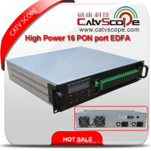Catvscope 1550nm High Power 16 Pon Port EDFA / Amplificateur