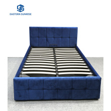Modern Design Strong Quality Bedroom Furniture Velvet Bed for Double Queen King Size