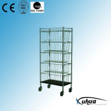 Stainless Steel Hospital Medical Basket Trolley (R-2)