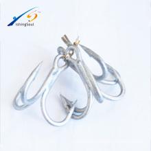 FSH001 ST66 высокое качество высокоуглеродистой стали заточены антикоррозионные тройной крючок Рыболовный крючок