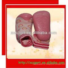 Sola de borracha sapatos de meia bebê