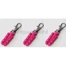 rosa cremallera paracord tirón 7cm