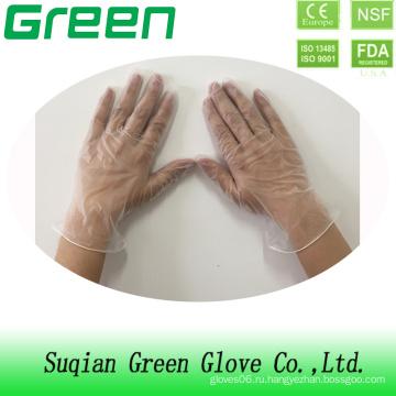 Одноразовые виниловые перчатки Suqain Green Gloves с ПВХ-материалом