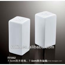 2014 elegantes Design Keramik Quadrat Salz und Pfeffer Shaker