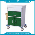 AG-GS009 Multi function emergency clinic steel medical trolley for sale