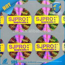Anti-falsificação prata e ouro 3d adesivo adesivo adesivo