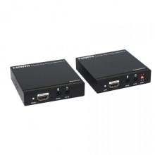 100m / 328ft sobre o único prolongamento coaxial do cabo coaxial HDMI (bidirecional IR + EDID)