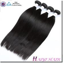Unverarbeitete Fabrik Preis billig reines Haar gerade natürliche Farbe doppelt genäht Schuss Haarbündel