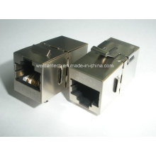 CAT6A FTP Coupler, 180 Degree