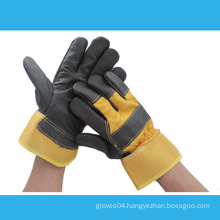 10.5 inches yellow split leather working gloves