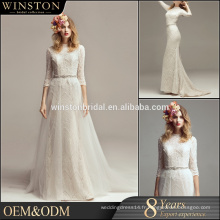 Robes de mariage blanches personnalisées OEM ODM