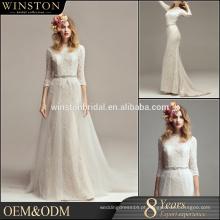 OEM ODM vestidos de casamento brancos personalizados