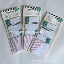 Glitter / Green Foil Sticky Notepad Impresión Notas adhesivas