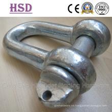 Grillete DIN82101 D, forma forjada a, grillete de anclaje, hardware de montaje, hardware marino