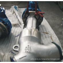 Tipo Y Válvula de globo de acero inoxidable de acero fundido