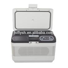 HF-AQ-12L DC12-1-24V AC 220 V auto und hause doppelnutzung auto kühlschrank auto kühler (CE zertifikat)