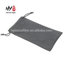 Soft reusable microfiber glasses drawstring bag
