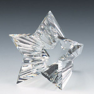 Five Star Crystal Paperweight