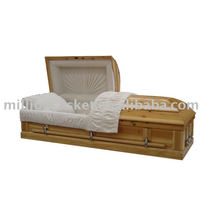 contínuo do abeto antigo caixão e dimensões usuais